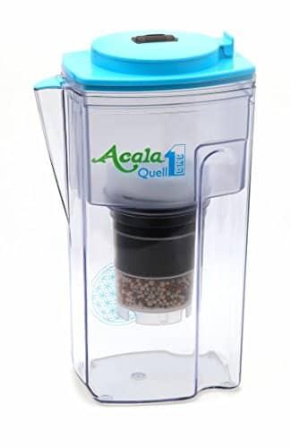 Wasserfilter AcalaQuell® One | Hellblau | Aktivkohle Wasserfilter | Höchste Filterleistung - mehrschichtig | BPA u. BPB frei | ReNaWa® - Technology | Kreiert köstlich schmeckendes, wohltuendes Wasser
